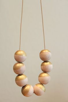 DIY dipped necklace