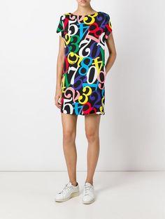 Love Moschino numbers print T-shirt dress