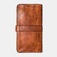 Hot-sale Men Vintage Card Holder Solid Phone Bag Long Wallet - NewChic Mobile Card Wallet, Clutch Wallet, Card Case, Vintage Cards, Vintage Men, Mens Long Leather Wallet, Long Wallet, Coin Purse, Card Holder