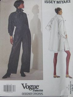 Vogue Issey Miyake Top Pants Pattern 2757 by TheHowlingHag on Etsy