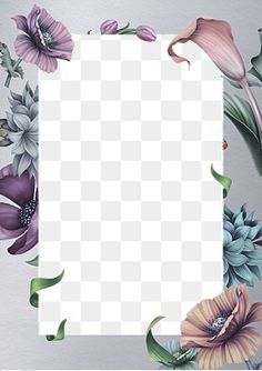 Beautiful flowers border