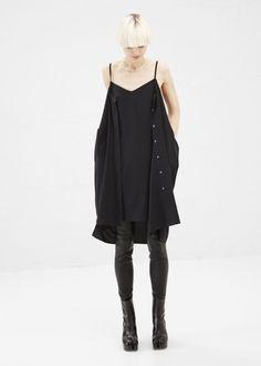 Black Shirt Dress-Maison Martin Margiela at Totokaelo