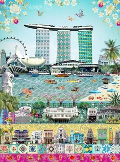 Europe has countries with different beauties. These countries include cities with very different characteristics. Singapore Travel Tips, Singapore Art, Mural Painting, Skyline Painting, Paintings, New Print, Vintage Travel Posters, Artwork Prints, Canvas Frame