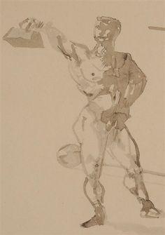 Henri Toulouse-Lautrec, Au cirque, travail des poids