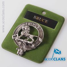 Bruce Clan Crest Badge. Free worldwide shipping available.