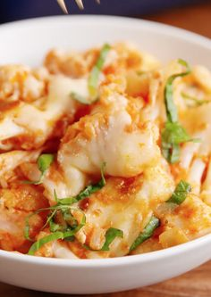 Cauliflower alla Vodka: Do yourself a favor and make this healthy low-carb, keto friendly casserole. You don't need to be on any kind of diet to enjoy its wonde Best Cauliflower Recipe, Cauliflower Dishes, Vegetable Dishes, Cauliflower Ideas, Cauliflower Mash, Low Carb Recipes, Cooking Recipes, Healthy Recipes, Vodka Recipes