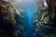 Iceland - Silfra - scuba dive between the tectonic plates that separate European and North American