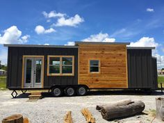 Irving is a luxury tiny home with all the essentials including a downstairs bedroom. It sleeps up to 6 with a fold out couch, and boasts two large closets.