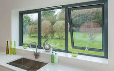 reports local double glazing installers offer the best prices on replacement windows. Get up to four double glazing quotes from local suppliers Upvc Windows, Grey Windows, Aluminium Windows And Doors, Modern Windows, Interior Windows, House Windows, Sliding Windows, Contemporary Windows, Kitchen Windows