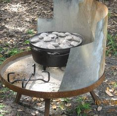 Dutch Oven Cooking Cake - Susan Etchey