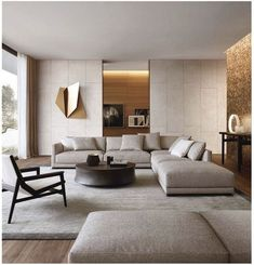 45 Modern Industrial Interior Design Living Room Décor Ideas - HOMYFEED In every age, furniture is made for the same basic purposes. Tables, desks and workbenches provide space for work or … Living Room Modern, Living Room Interior, Home Living Room, Living Room Contemporary, Living Area, Luxury Living Rooms, Elegant Living Room, Cozy Living, Table In Living Room