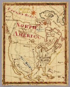 David Rumsey Historical Map Collection. 1816 map of North America by schoolboy Bradford Scott.