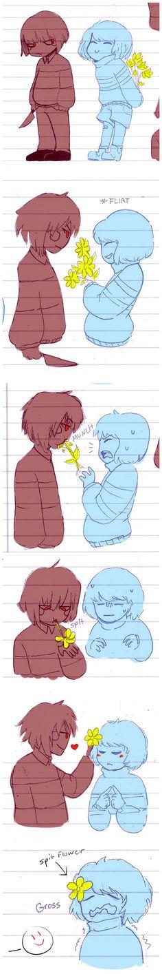 babies attempt to flirt (and fail) by BamSaraKilledYou on DeviantArt
