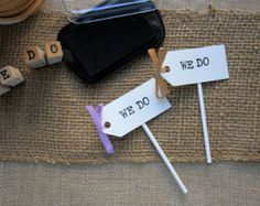 We Do Wedding Cupcake Toppers (Set of 15)