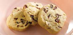 Cranberry Almond Shortbread Cookies