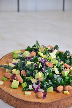 Avocado and Apple Kale Salad with Creamy Cashew Dressing {Gluten-Free, Dairy-Free, Soy-Free, Vegan, Paleo}