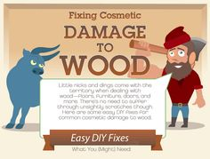 Need to fix up your wood? Follow these quick steps to solve any wood damage!