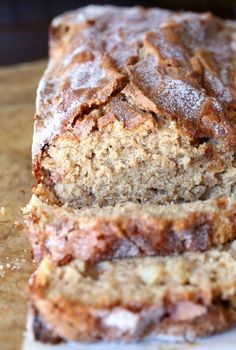 CRAZY GOOD and makes your house smell amazing while i… Snickerdoodle APple Bread. CRAZY GOOD and makes your house smell amazing while it's baking! Just Desserts, No Bake Desserts, Delicious Desserts, Dessert Recipes, Yummy Food, Desserts With Apples, Quick Dessert, Baking Desserts, Party Desserts