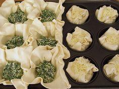 Blätterteig - Spinat - Muffins, ein schönes Rezept aus der Kategorie Kuchen. Bewertungen: 9. Durchschnitt: Ø 3,7.