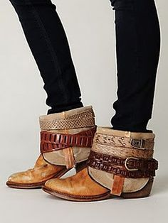 DIY: Cowboy Booties made from old cowboy boots!