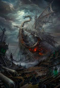 Lost ships by haryarti.deviantart.com on @DeviantArt
