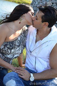 Wall kissing hot couple