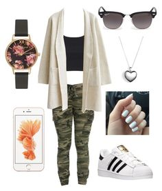 """""""#No name"""" by eemaj ❤ liked on Polyvore featuring Topshop, adidas, Ray-Ban, Olivia Burton, Pandora, women's clothing, women, female, woman and misses"""