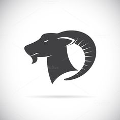 Vector image of an goats head by yod67 on @creativework247
