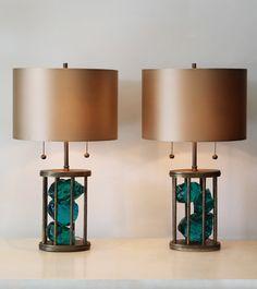 Pair of 'Sylvia Slag' Table Lamps | BLACKMAN CRUZ