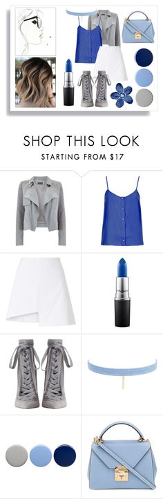 """""""Blue Beauty"""" by smokeybill ❤ liked on Polyvore featuring Mint Velvet, Topshop, WÃ¥ven, MAC Cosmetics, Zimmermann, Jules Smith, Burberry and Mark Cross"""