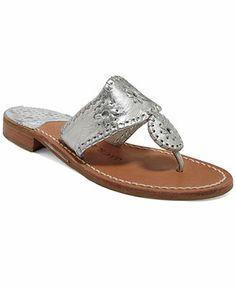 Jack Rogers Classic Navajo Hamptons Flat Thong Sandals