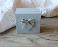 Ring Bearer Box / Gray Wooden Box / Rustic Wedding by NeliStudio