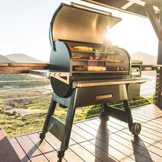 The Traeger Timberline is the next frontier of BBQ. With WiFi control, 3 cooking tiers, Super Smoke, and more, its a premium pellet grill like few others. Backyard Bbq, Patio, Infrared Grills, Outdoor Living, Outdoor Decor, Charcoal Grill, Wifi, Traeger Grills, Stoves