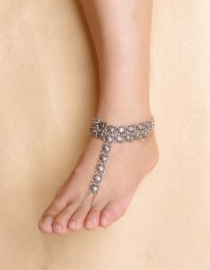 Gypsy Antique Silver Turkish Flower Statement Anklet Ankle Bracelet Beach Foot Jewelry Ethnic Tribal Festival Jewelry  List price: US $7.00 Price: US $6.00  You save: US $1.00(14%)  S…