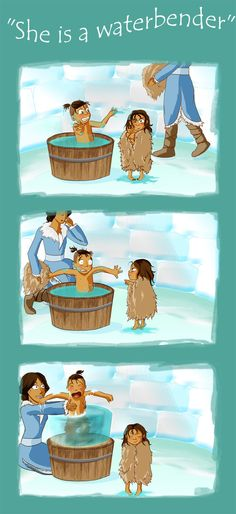 Little Sokka & Katara, so cute :) HAH KYA'S FACE IN THE LAST ONE!