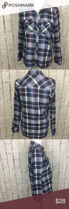 Hinge Nordstrom flannel EUC Hinge brand Nordstrom flannel button down Nordstrom Tops Button Down Shirts