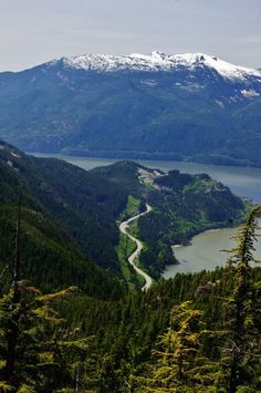 Overlooking the sea to sky highway in Beautiful British Columbia, Canada.