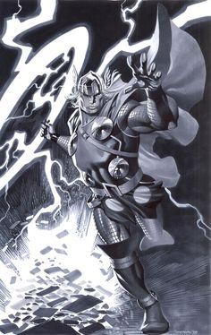 #Thor #Fan #Art. (Modern Thor) By: Christopher Stevens. ÅWESOMENESS!!!  [THANK U 4 PINNING!!]