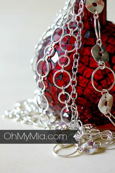 Mialisia Jewelry - Beautiful silver jewelry around candle, these pieces are from the Mialisia Jewelry demo kit, Check out more at www.ohmymia.com or http://ohmy.mialisia.com
