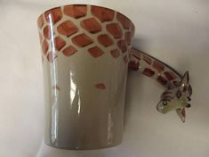 Giraffe Mug  Giraffe handle Mug  cute