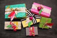 Watercolor Devo BLOG: DIY Paper Gift Boxes!!!! Using scrapbook paper. Super cute!