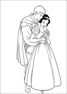 Prince and Snow White drawing