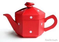 Teapot Treats Gift Box - PDF Template