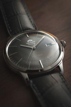 Orient Bambino Ver. 3 (graphite) + Hirsch Duke strap