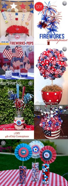 7 DIY 4th of July Centerpieces