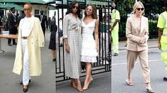 A new generation of stylish attendees is shaking up the dress code at the world's oldest tennis tournament. Fashion Sites, Fashion Models, Night Outfits, Casual Outfits, Retro Fashion, Girl Fashion, Smart Casual Women, Maxi Coat, Festival Outfits