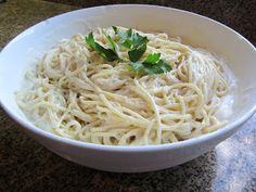 Vegan alfredo sauce. A vegan alternative that could easily be paired with spaghetti squash for a gluten-free dinner