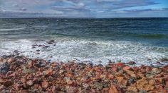 Waves from the sea against the beach. Denmark. Taken with Sony Xperia Sony Z1