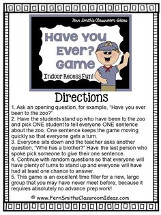 Fern Smith's Tuesday Teacher Tips: Back to School #Free Getting to Know You Game