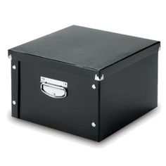 Black Snap N Store Large Storage Box   2 Pack.Opens In A